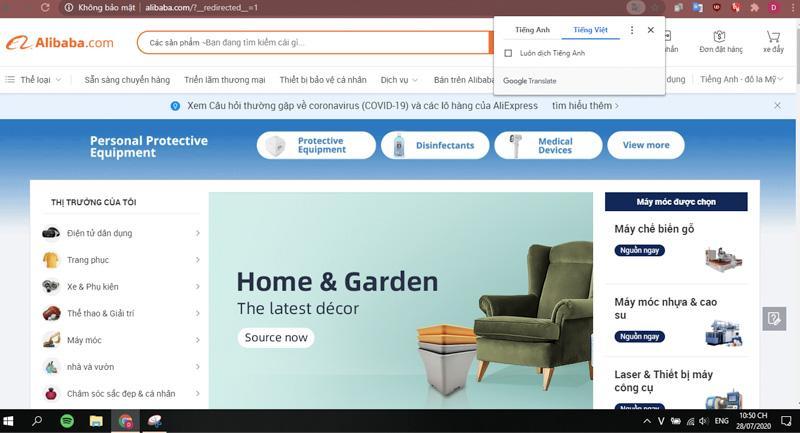 Tìm kiếm và lựa chọn sản phẩm trên Alibaba